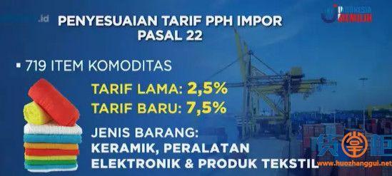 1147种商品关税突然大增!出口印尼请务必注意!附清单