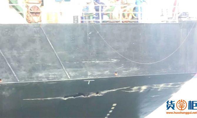 X-PRESS BRAHMAPUTRA集装箱船与码头相撞,船期延误-货掌柜www.huozhanggui.net