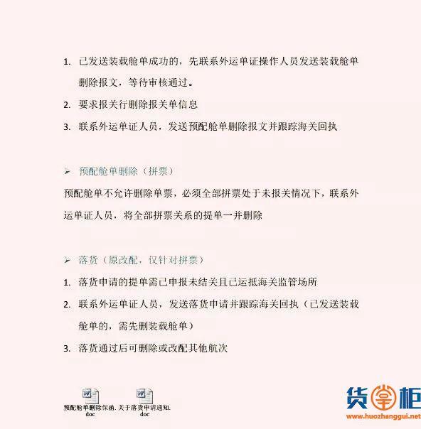 船公司发布:新舱单直接改配新规、预配舱单改配流程-货掌柜www.huozhanggui.net