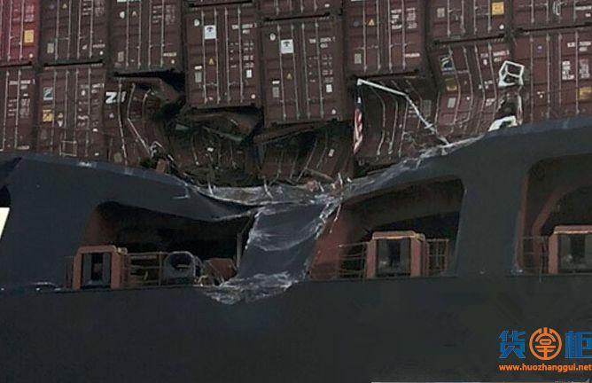 """SAFMARINE NOKWANDA""与TIANJIN""号集装箱船相撞!"