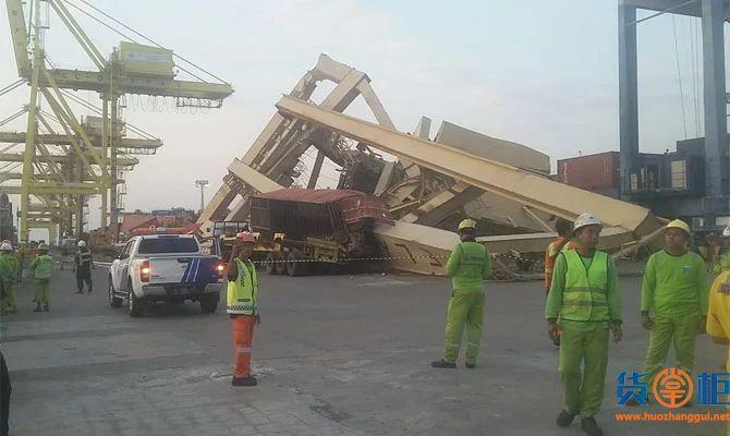 集装箱船撞毁码头岸吊!中国货物将受影响