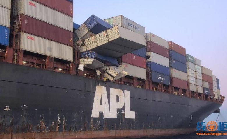 APL ENGLAND集装箱落海事件后续:船舶被扣留,船长被控诉,担保金高达2200万美元