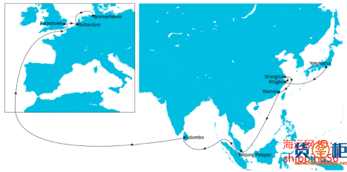 马士基Maersk Elba大型集装箱船机舱失火!曾挂靠国内多个港口