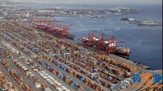 洛杉矶港上半年吞吐量达540万标箱 同比增长44%
