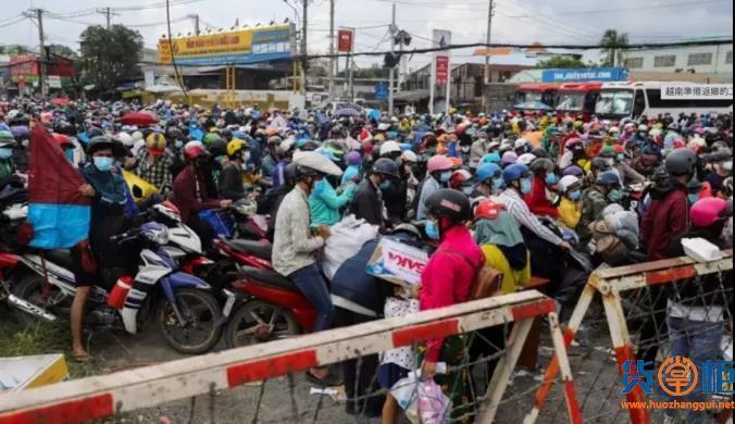 越南胡志明市宣布逐步解封,上百万工人逃离工厂
